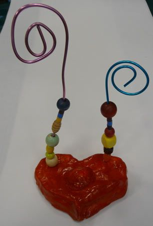baked clay and beads to personlize