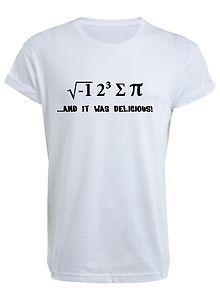 I 8 Sum Pi T-Shirt - T Shirt ate some pie funny food nerd maths physics joke | eBay