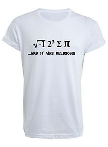 I 8 Sum Pi T-Shirt - T Shirt ate some pie funny food nerd maths physics joke   eBay