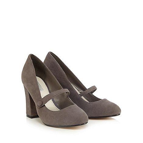 RJR.John Rocha Grey suede high court shoes | Debenhams