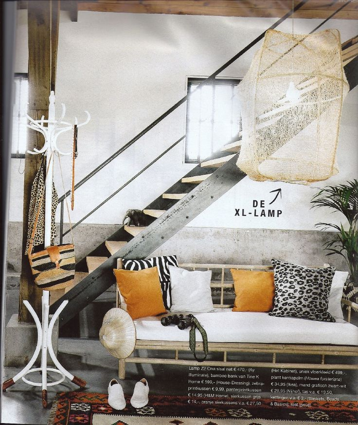 Bamboe meubelsIn de jaren 60 en 70 was bamboe een veel gebruikt materiaal in het interieur. Je zag het vooral samen met veel planten en oranje / bruine woonaccessoires.