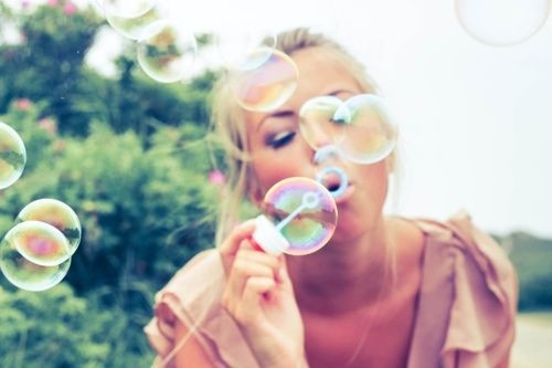 you're never too young to blow bubbles.