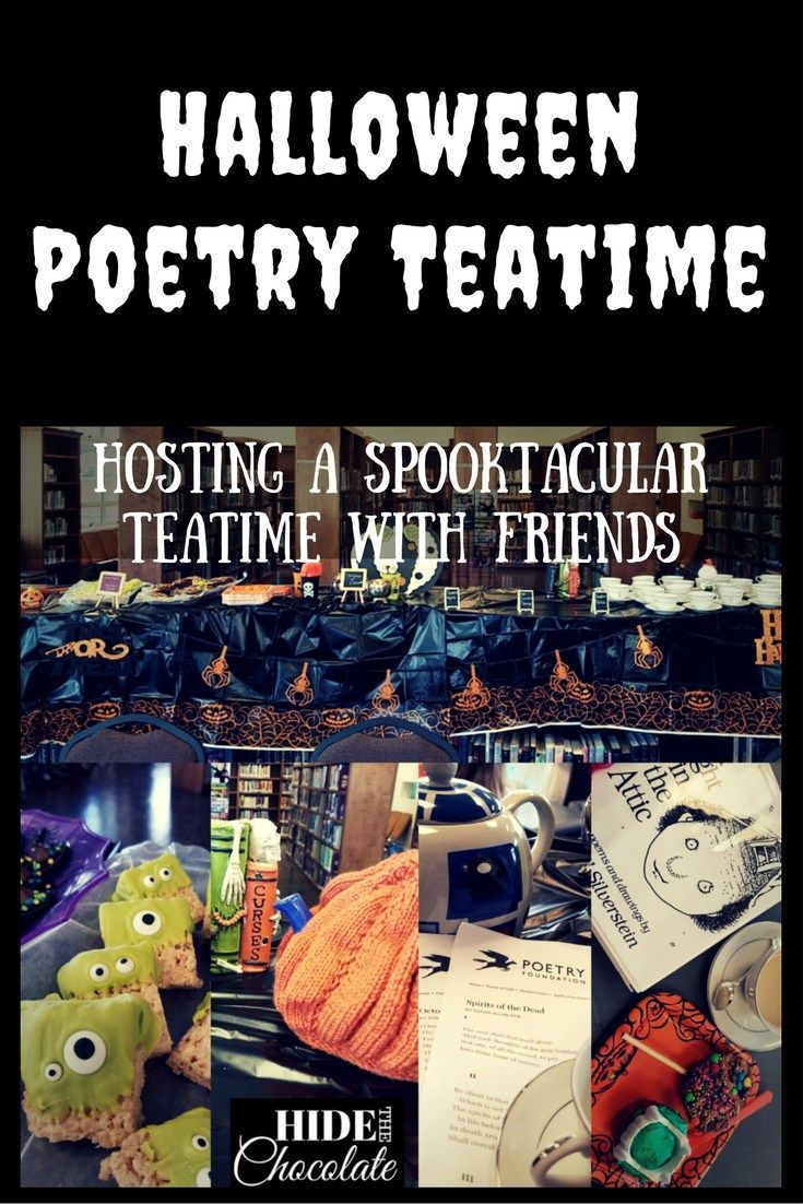 Halloween Poetry Teatime: Pumpkin Spice Tea, Edgar Allen Poe, Ghoulish Treats and Creative Costumes all make for a fun and spooky Halloween Poetry Teatime.