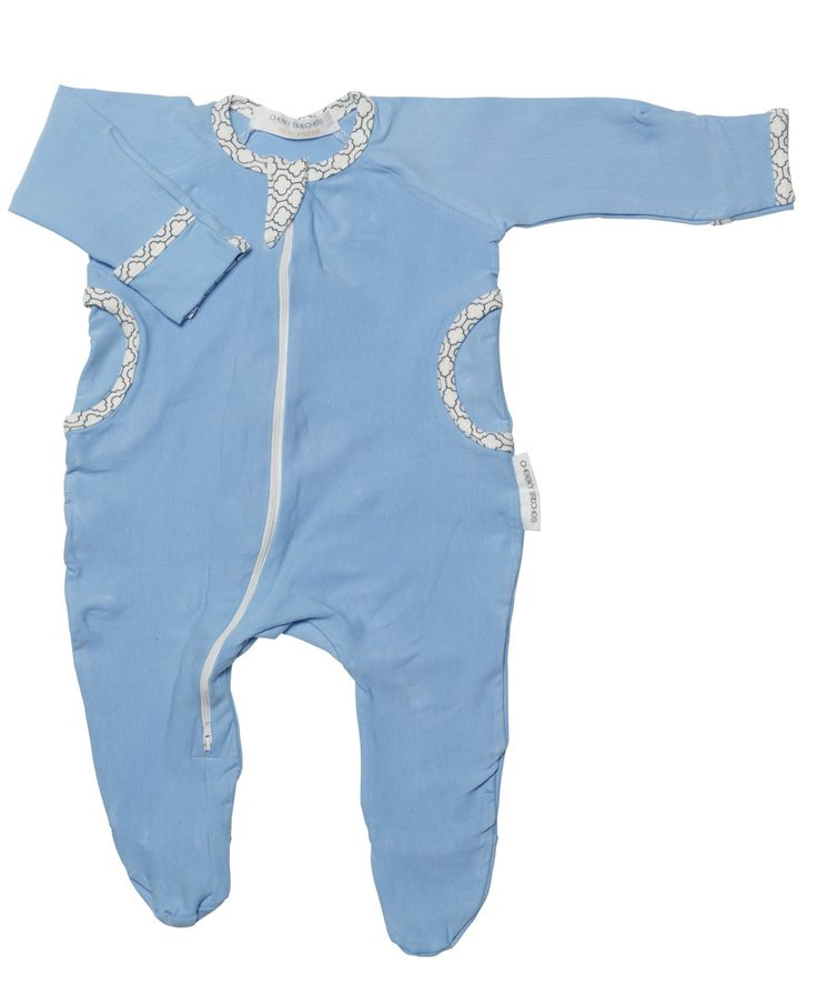 Powder Blue Organic Cotton Growsuit