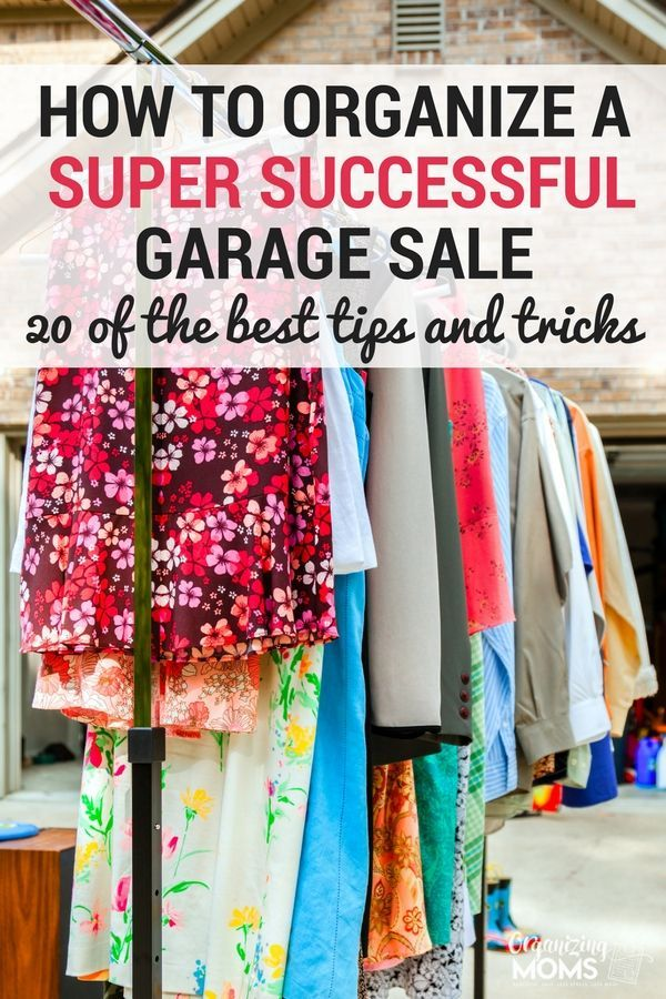 How To Organize A Successful Garage Sale With Images Yard Sale Organization Garage Sale Tips Garage Sale Organization