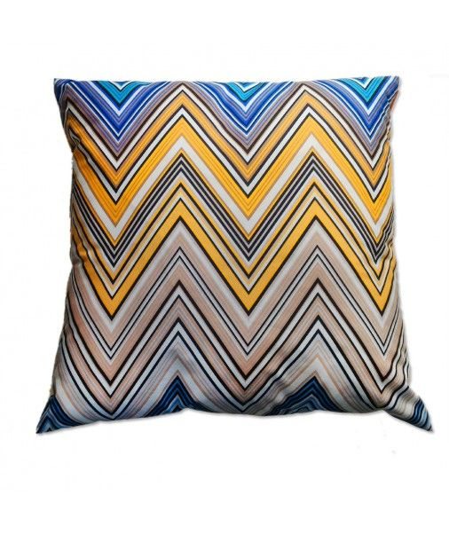 Missoni Home Gravita Oman Leather: Decorative Pillow For Living Room TREVOR 170 Chevron