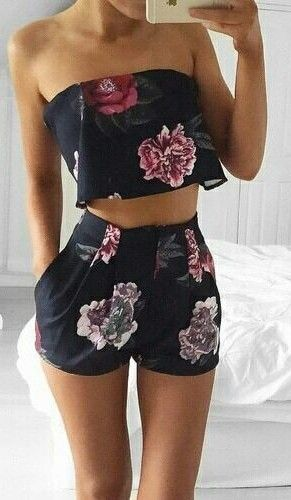Floral Two Piece Set                                                                             Source