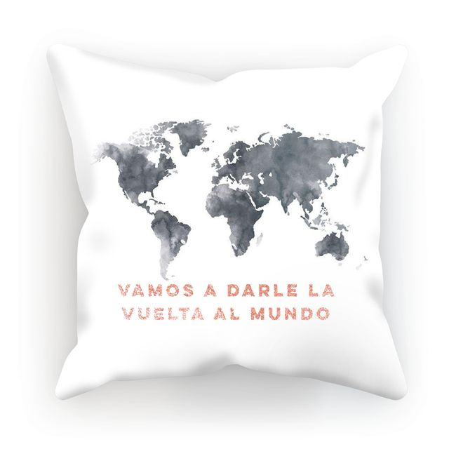 Grab them now! White La Vuelta al Mundo, Throw Pillows with Insert on my Shopify store ✨ http://zea.design/products/cushion-62 #diseño #diseñodeinteriores #diseñolocal #decoracioninteriores #style #travel #viajar #pillow #decorativepillow #cushion #homedecor #interiordesign #shoplocal #puertorico