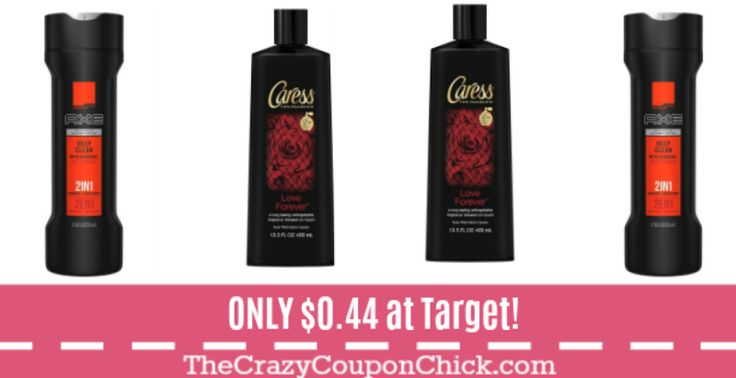 Axe Shampoo and Caress Body Wash ONLY $0.44 at Target!