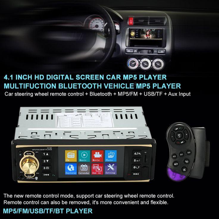 4.1 inch Universal TFT HD 1080P Bluetooth Car Radio MP5 Sales Online black - Tomtop.com  #auto #moto #car #accessories