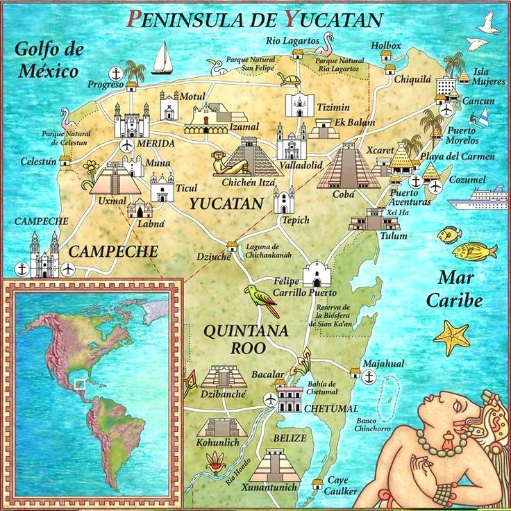 Me Faltan Algunos Lugares Que Debo Ir En Yucatán Pero Sin Duda Hermoso También Mexico Acceda A Nuestro Blog Encuen Mexico Map Cancun Mexico Cancun Trip