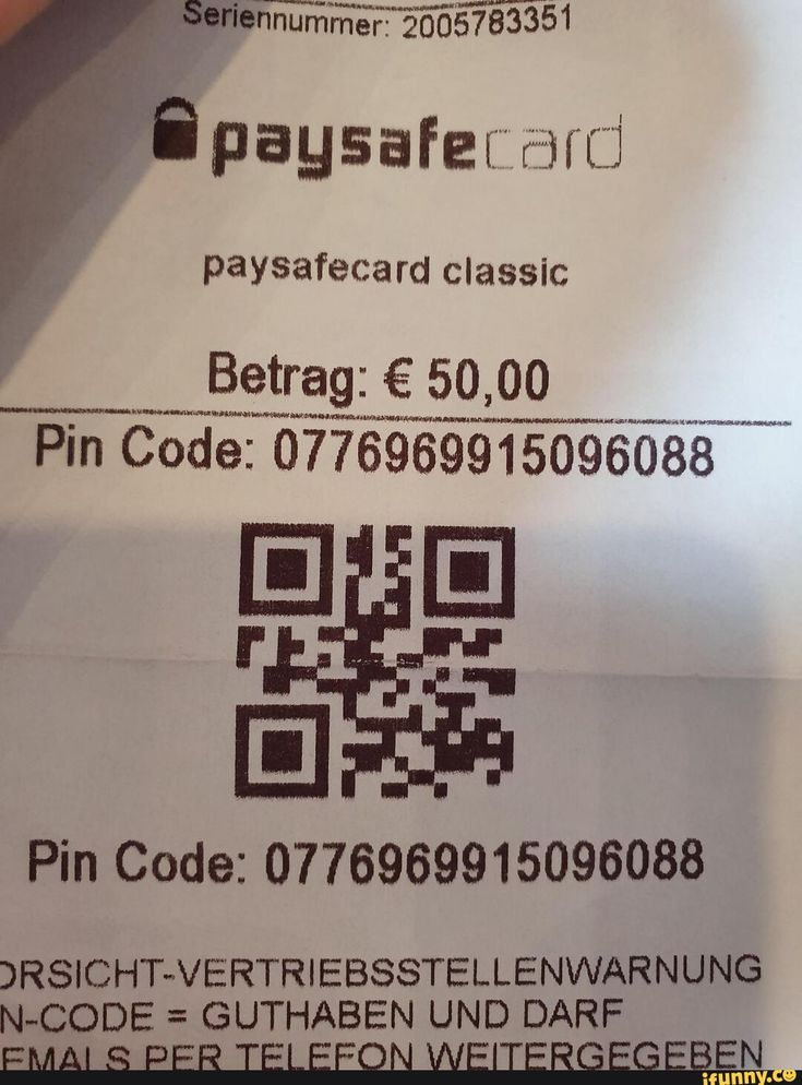 Paysafe Pin