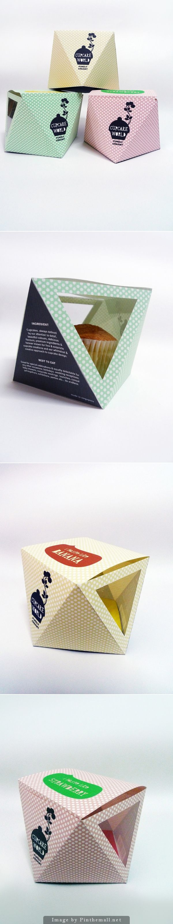Cupcake Packaging Design by Elroy Chong, via Behance is making the rounds again as a popular pin PD