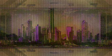 'Panama Stadt Skyline' von Marie Luise Strohmenger bei artflakes.com als Poster oder Kunstdruck $16.63