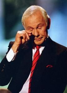 Johnny Carson retires from the Tonight Show.  5/22/1992 Not that this was a great moment, but because it stood for 29 years of great moments in entertainment.  Johnny was a consummate entertainer and a real class act.