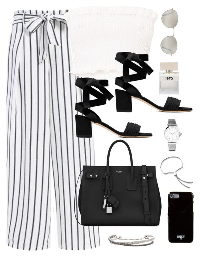 """Untitled #3633"" by theaverageauburn ❤ liked on Polyvore featuring Bella Freud, Forever 21, Yves Saint Laurent, Larsson & Jennings, Monica Vinader, Givenchy and Roberto Marroni"