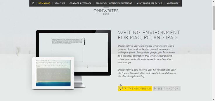 Ommwriter.com welcome   ommwriter   pagesstudy