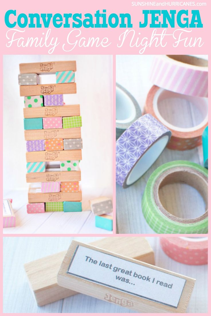 Conversation Jenga! A great way to update an old favorite for a fun family game night.