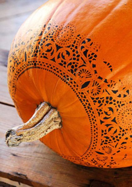 Take a girly approach on pumpkin decorating this year