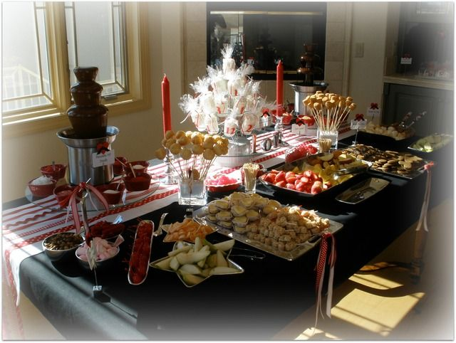 Chocolate Fondue party. This is a cute idea for a fun girl's night.