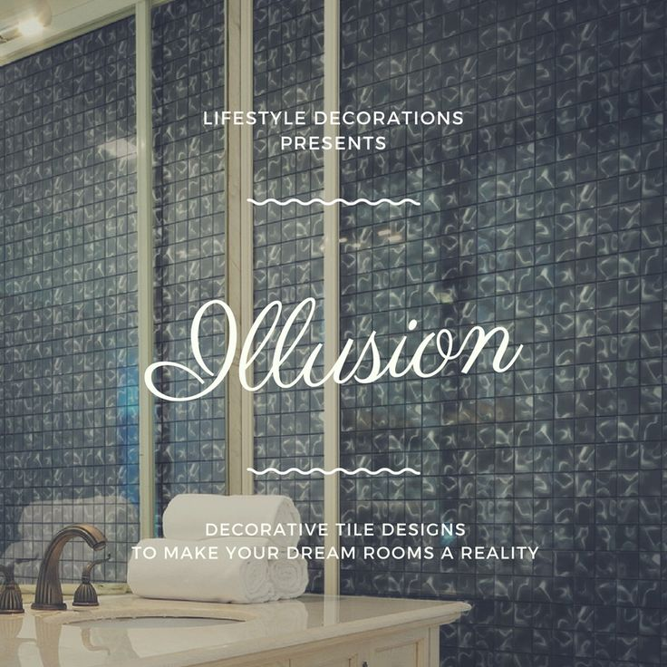 Dramatic, romantic, glass tiles. Giving the illusion of water. #decor #design #tiles #interiordesign #interior