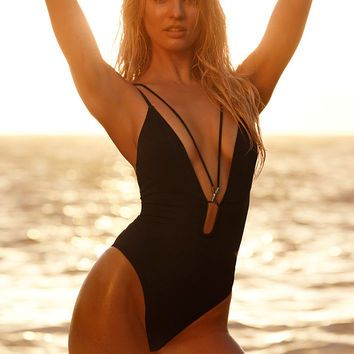 Double-strap Plunge One-piece - Very Sexy