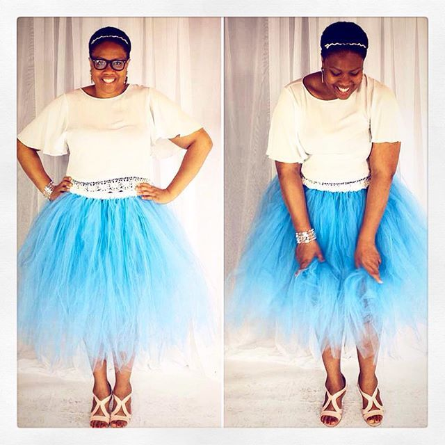 Keep icy cool in a fab #blue custom #tutu! Order yours at lilmissdressup.com