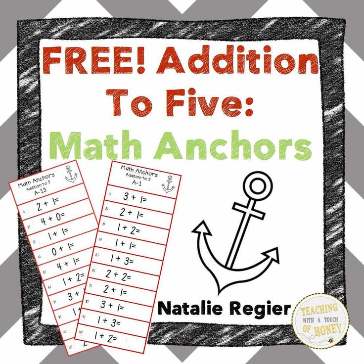 FREEBIE! Use these math anchors to help your students practice their addition to five fluency skills!