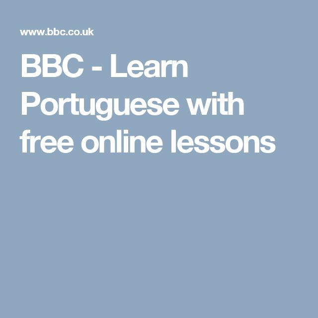 23 best Learn to Speak Portuguese images on Pinterest