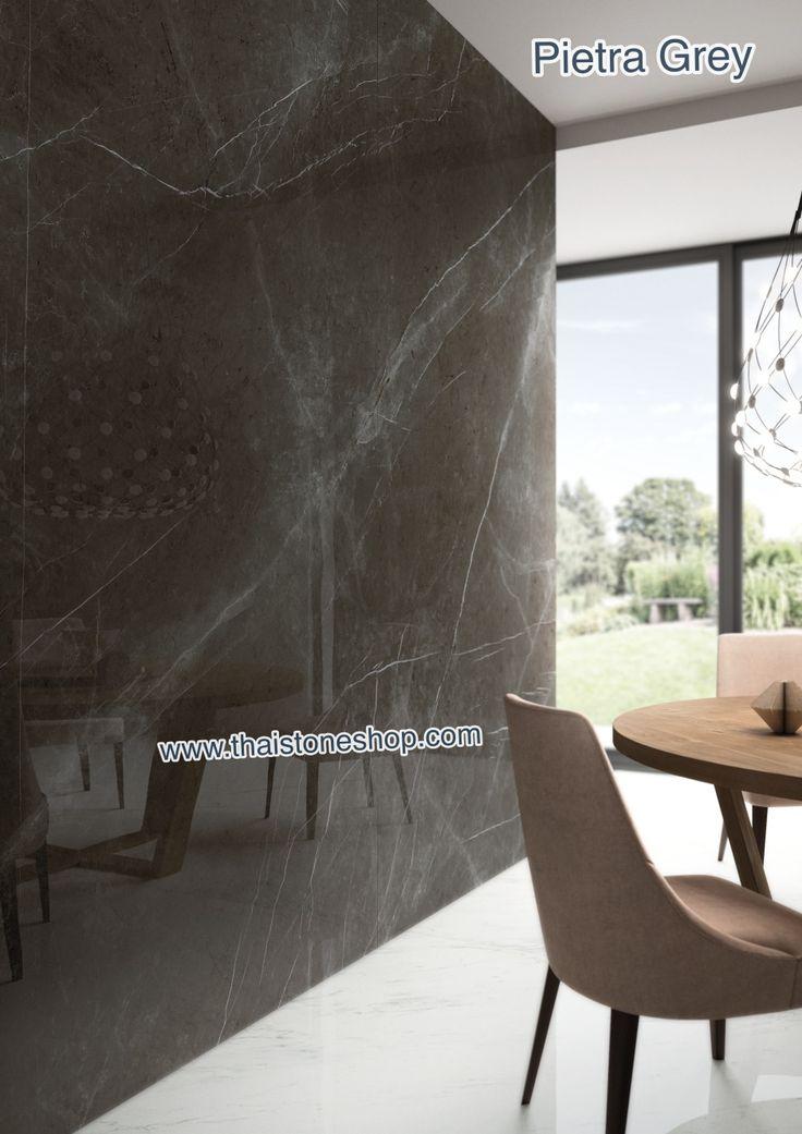 Pietra Grey : Italia surface (100% MADE IN ITALY) ติดตั้งงาน ผนัง