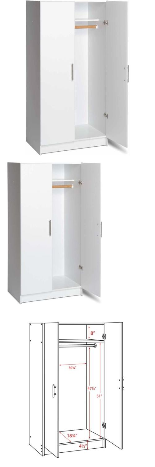 Armoires and Wardrobes 103430: Wooden Wardrobe Closet Armoire Bedroom Storage Organizer Cabinet White -> BUY IT NOW ONLY: $209.95 on eBay!