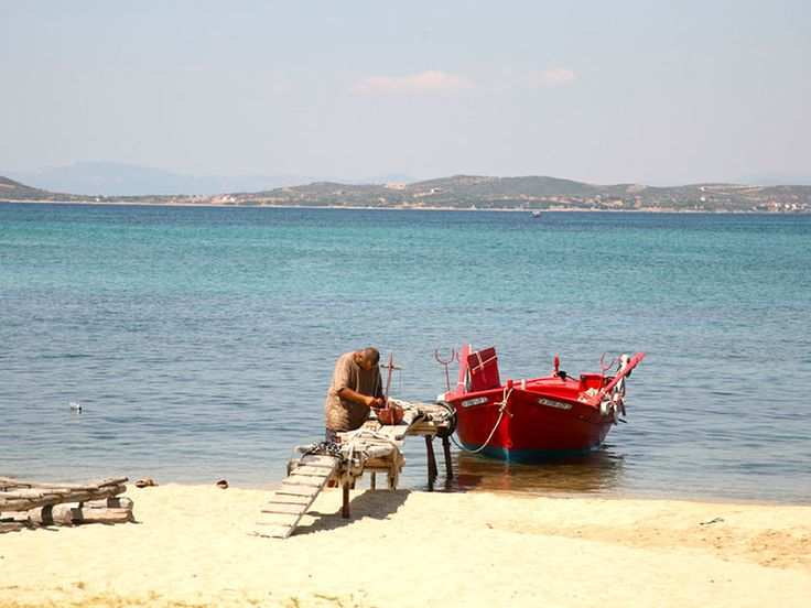 Fisherman at #Ouranoupoli - East #Halkidiki #Greece #Travel #boat #sea