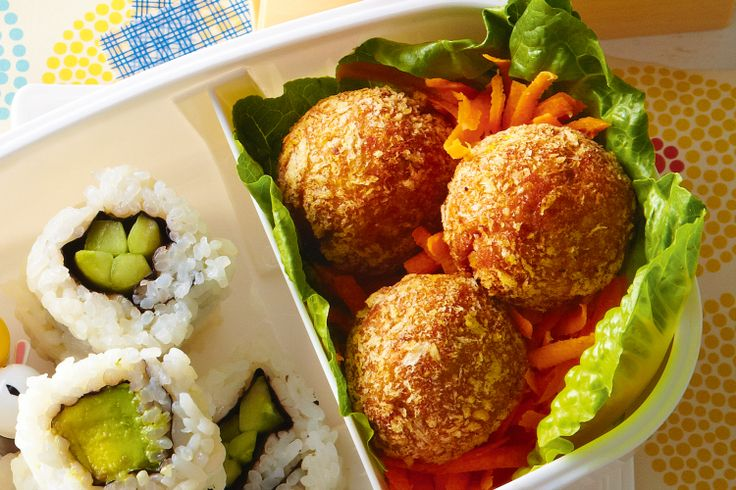 Coated in panko crumbs, these crispy, gingery Japanese-style meatballs taste great with an extra squirt of barbecue sauce.
