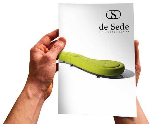 Desain Katalog Brosur Furnitur Modern -   de Sede brochure 1