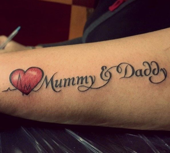 Heart tattoo designs with words
