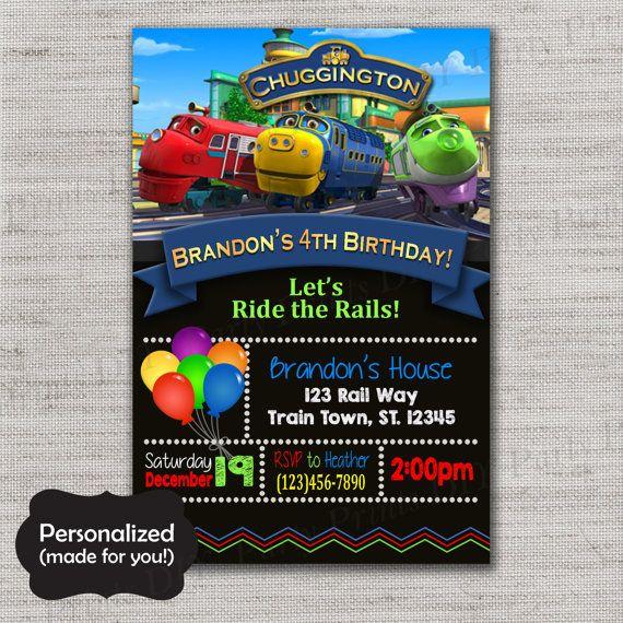 25 best ideas about Chuggington birthday – Chuggington Party Invitations