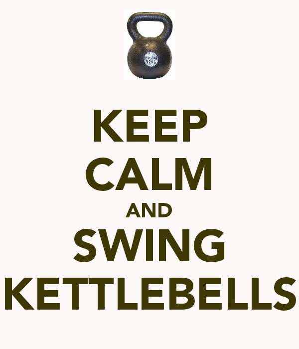 or keep calm by swinging kettle bells