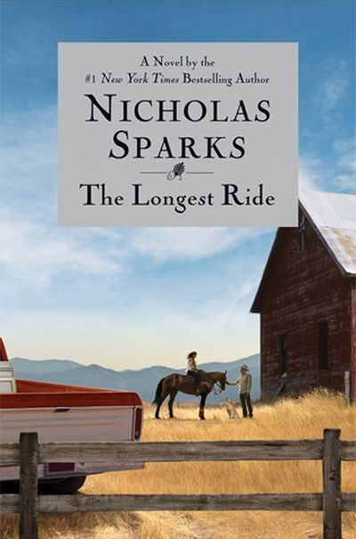 The Longest Ride by Nicholas Sparks. Once in a while, it's fun to get lost in a really mushy book.