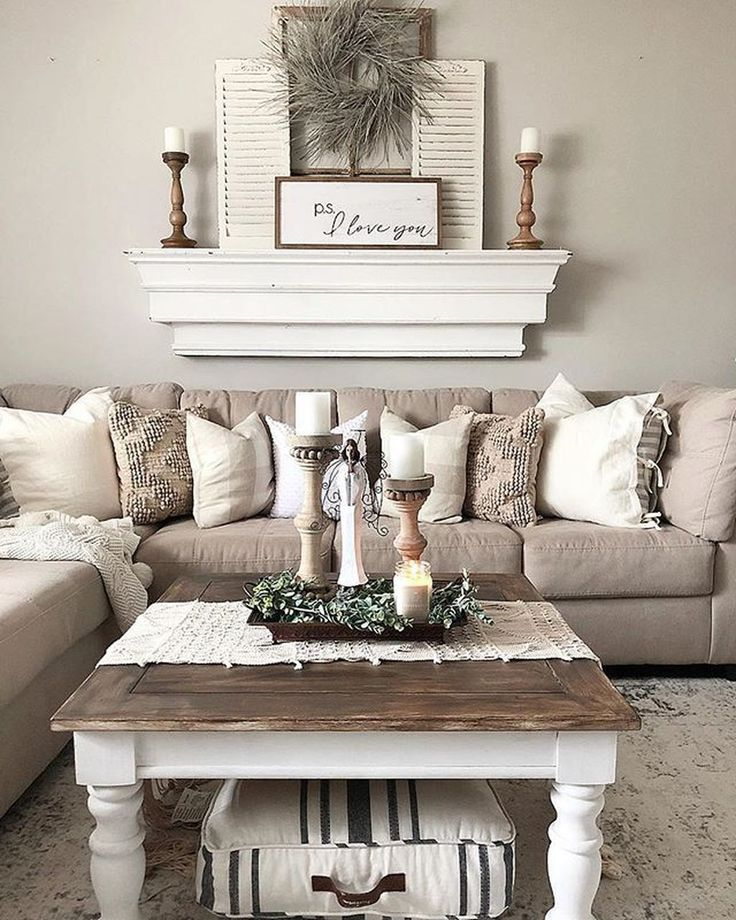 36 Popular Rustic Farmhouse Living Room Decor Ideas For Comfortable Home