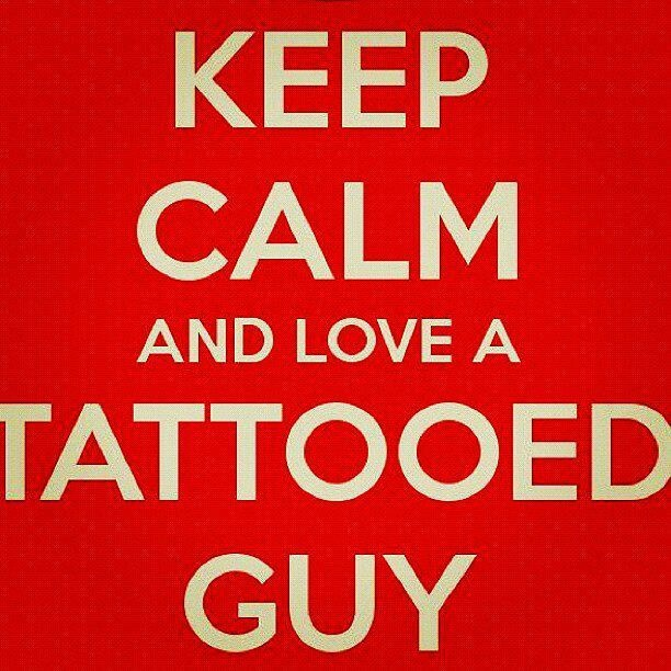 I LOVE Tattooed Guys... soooo YUM!!! ;D