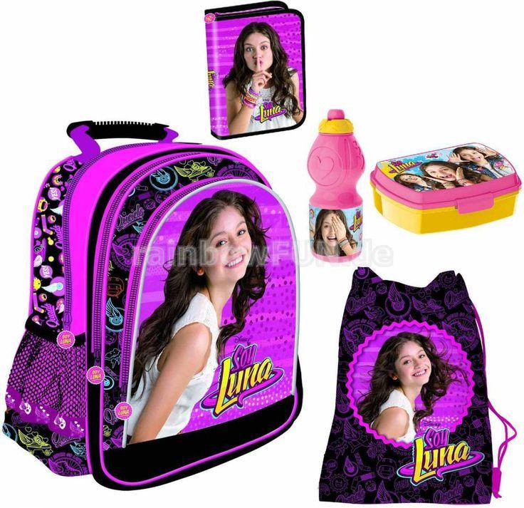 Disney-Soy-Luna-Rucksack-Turnbeutel-Federmappchen-Lunchbox-Flasche-Backpack-Bag