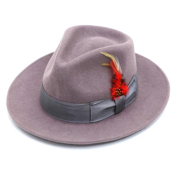2c27f3b1b Ferrecci Men's Purple Wool Felt Lined Fedora Hat | Fedoras | Fedora ...