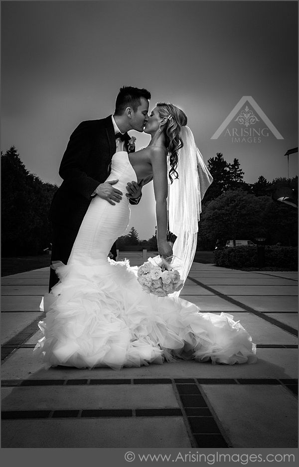 Lovely Bride and Groom Photography at the Cranbrook Art Museum! #ArisingImages #Wedding #B&G #Bride #Groom #Love
