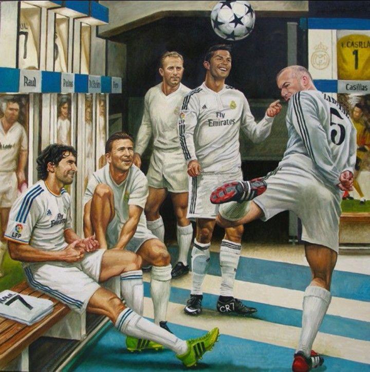 Real Madrid efsaneleri... #Galacticos #halamadrid   #Raul #Zidane #DiStefano #Puskas #Ronaldo #Casillas #Figo vd...