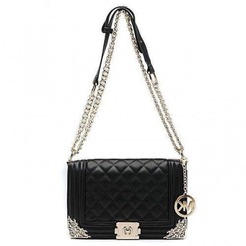 Michael Kors Sloan Chain Large Black 006 Shoulder Bags
