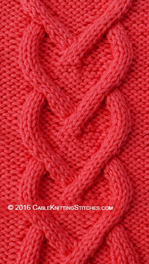 Cable Knitting Stitches » Cable panel 11 » Heart