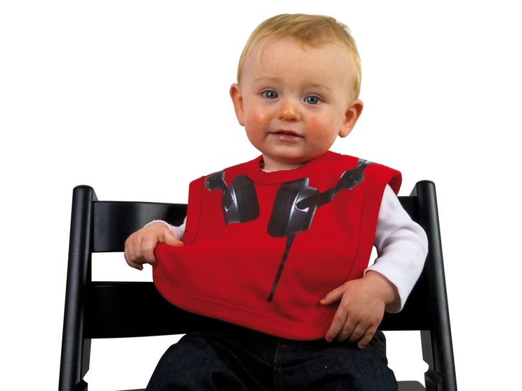Śliniaczek dla dzieci z nadrukiem słuchawek