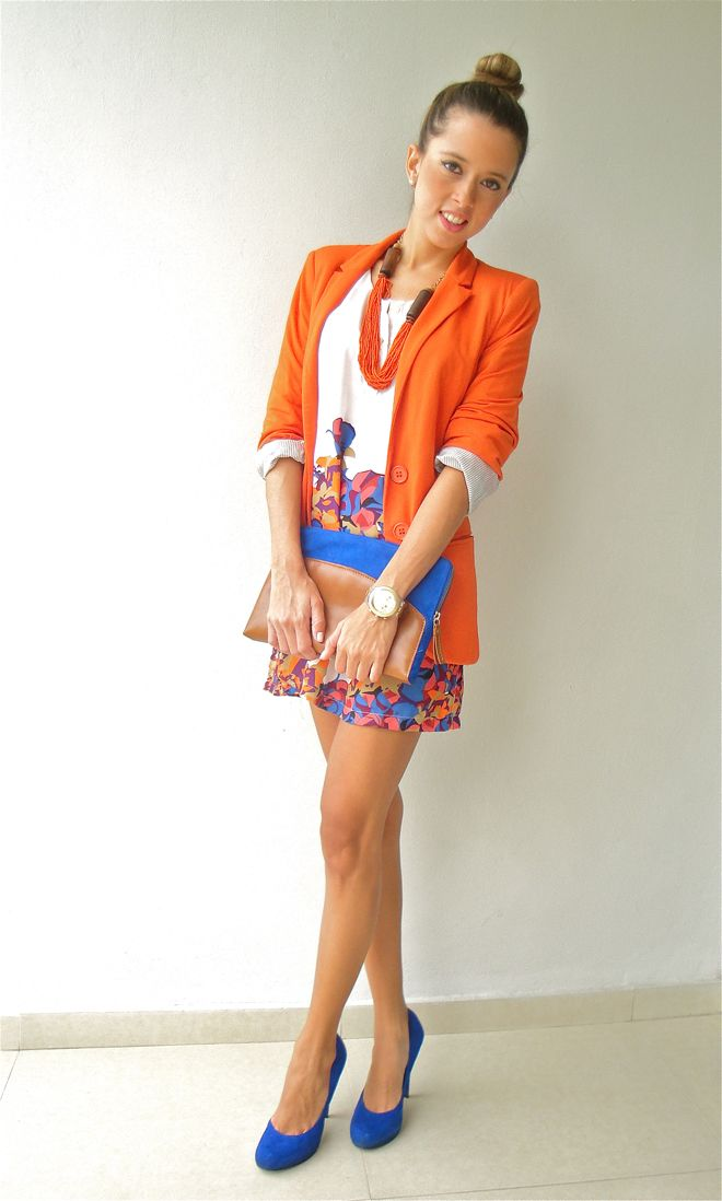 orange blazer + print! {Our Favorite Style}