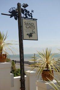 Sign facing the sea