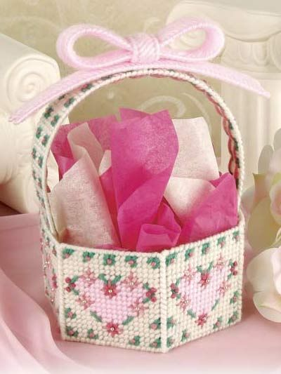 Plastic Canvas - Gifts - Victorian Basket